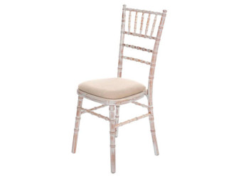 Limewash chivari banquet chairs