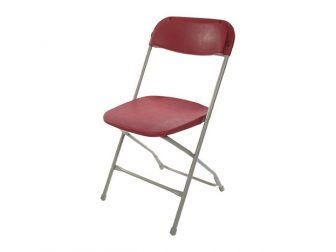 Burgundy Folding Chairs