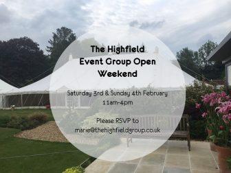 Highfield Open Weekend