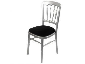 Silver Bentwood Black seat pad