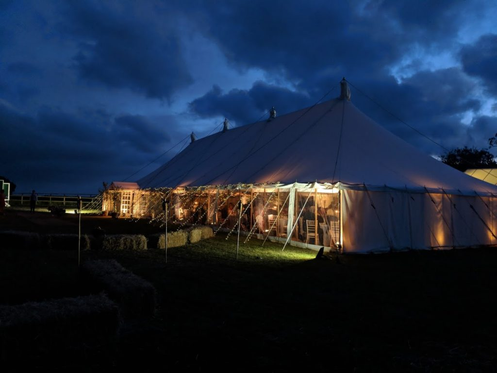 Marquee with Fairy Lights
